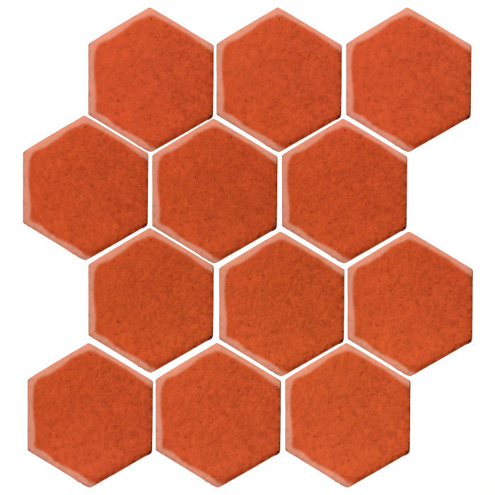 4x4 Monrovia Hexagon Hazard Orange