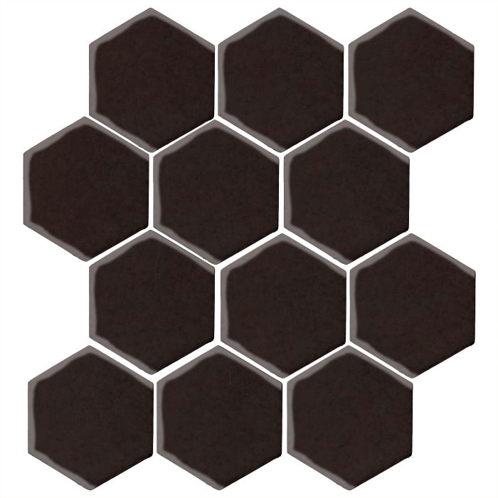 4x4 Monrovia Hexagon Licorice