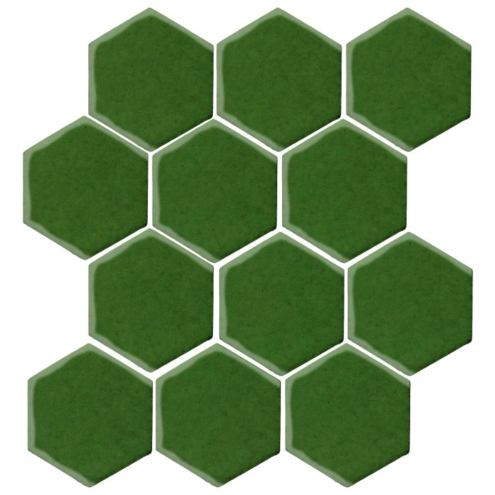 4x4 Monrovia Hexagon Lucky Green 7734c