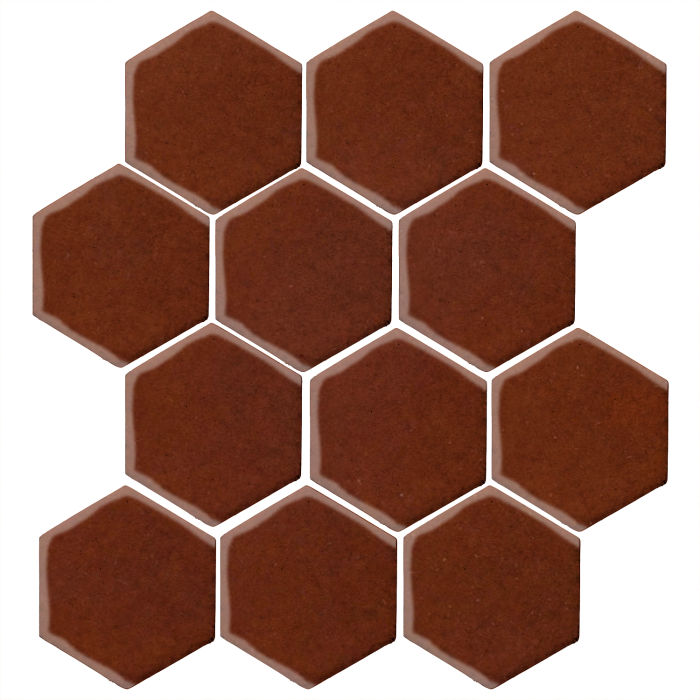 4x4 Monrovia Hexagon Mocha 7581c