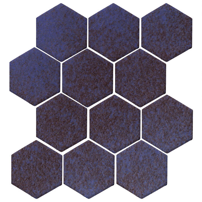 4x4 Monrovia Hexagon Persian Blue