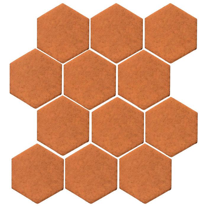 4x4 Monrovia Hexagon Pottery Brown 470u