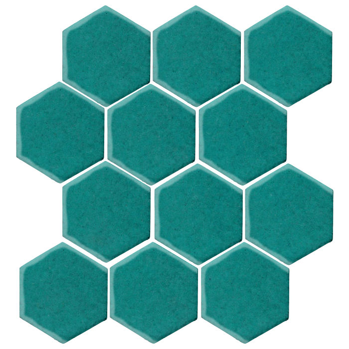 4x4 Monrovia Hexagon Real Teal 5483c
