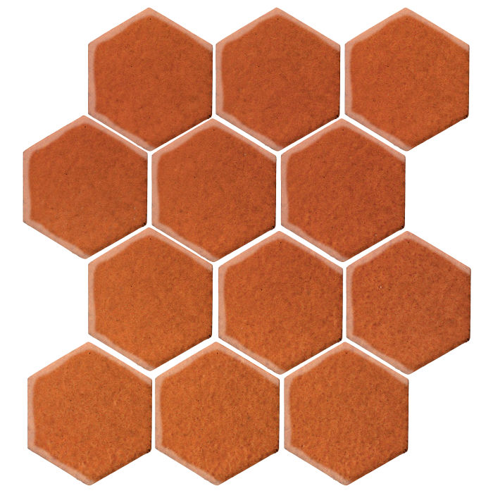 4x4 Monrovia Hexagon Spanish Brown