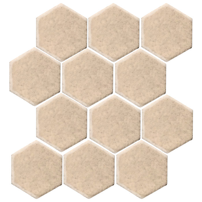 4x4 Monrovia Hexagon White Bread 7506c