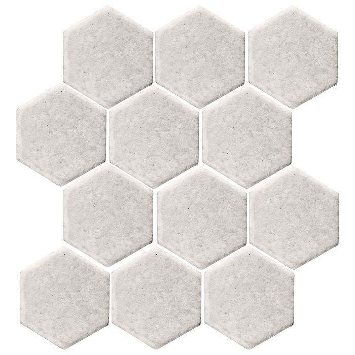 4x4 Monrovia Hexagon Pure White