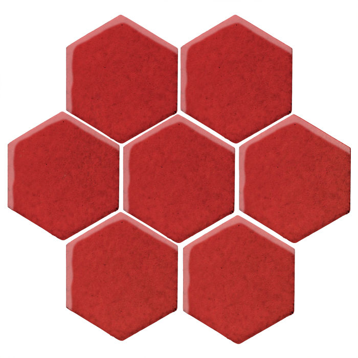 6x6 Monrovia Hexagon Apple Valley Red