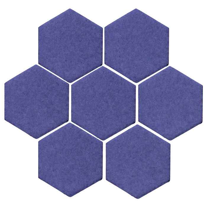 6x6 Monrovia Hexagon Blue Satin 7684u