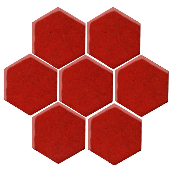 6x6 Monrovia Hexagon Brick Red 7624c