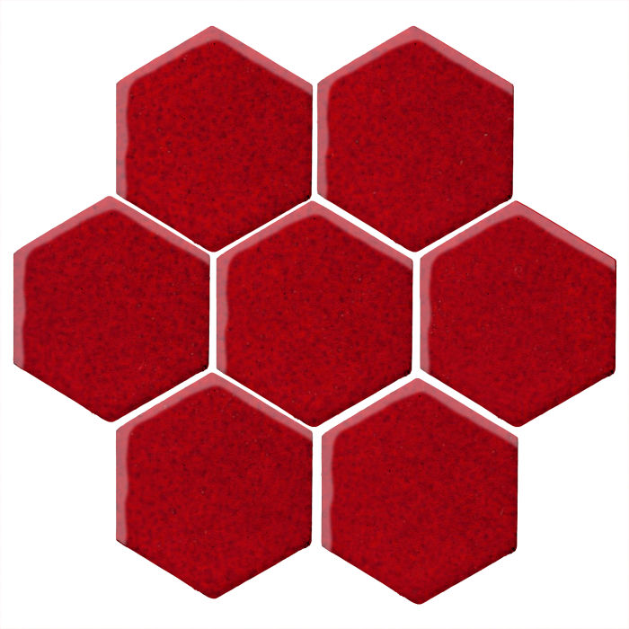 6x6 Monrovia Hexagon Cadmium Red 202c