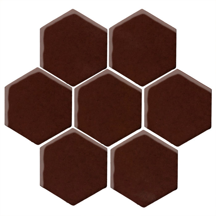 6x6 Monrovia Hexagon Cordovan 476c