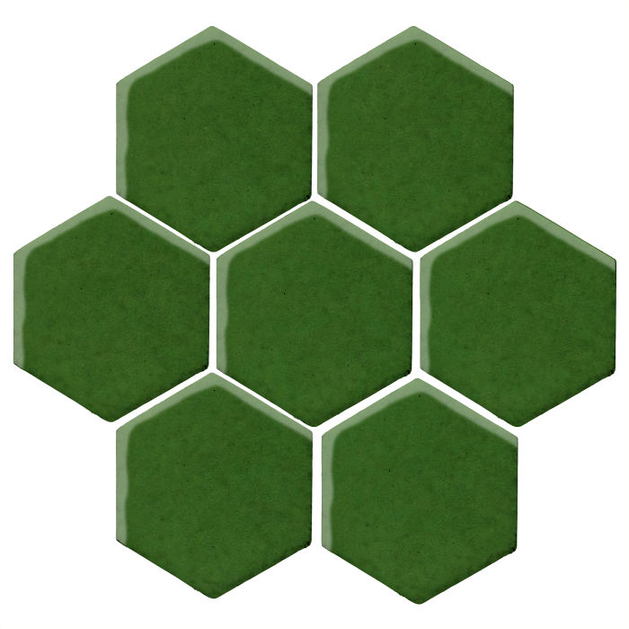 6x6 Monrovia Hexagon Lucky Green 7734c