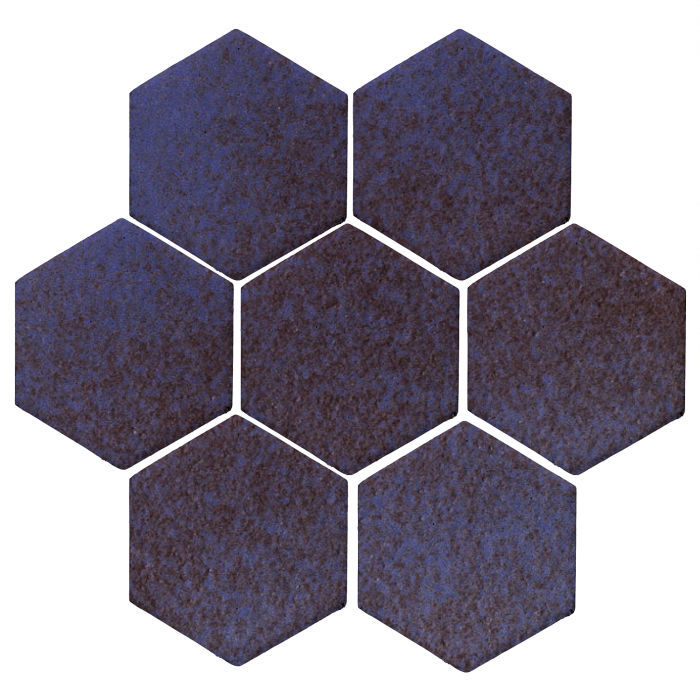 6x6 Monrovia Hexagon Persian Blue