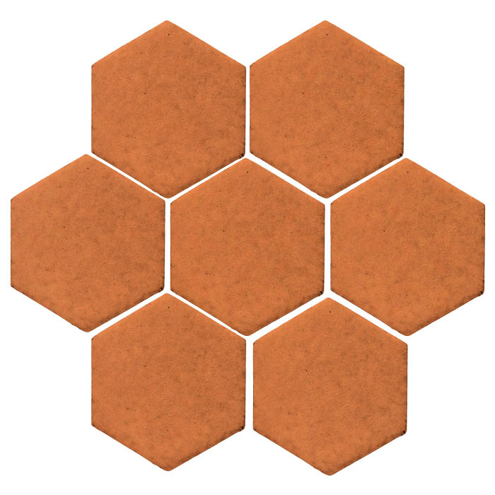 6x6 Monrovia Hexagon Pottery Brown 470u