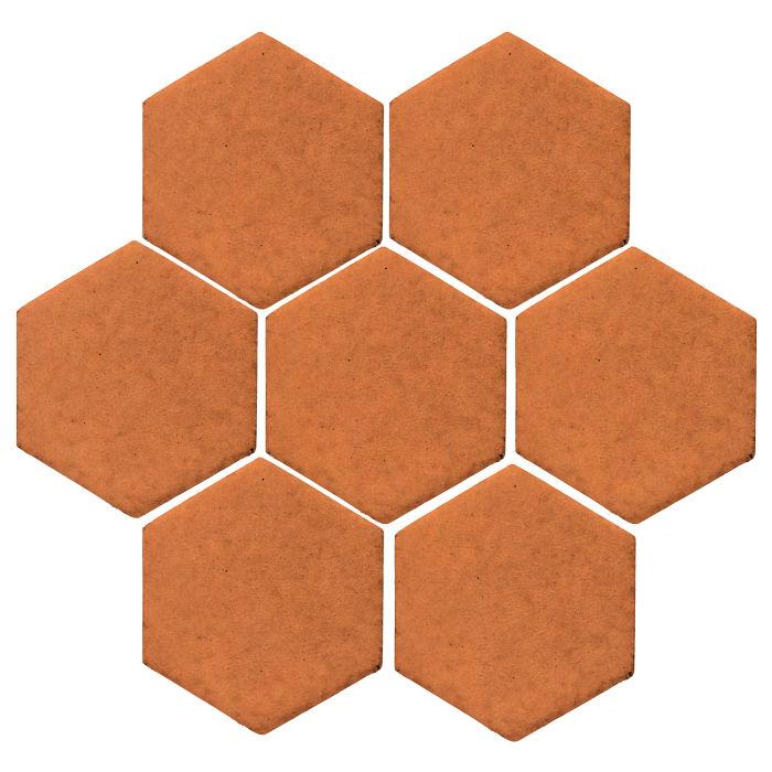 6x6 Monrovia Hexagon Pottery Brown 470u