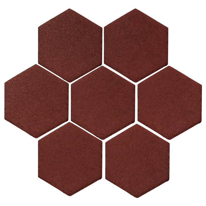 6x6 Monrovia Hexagon Pueblo Red