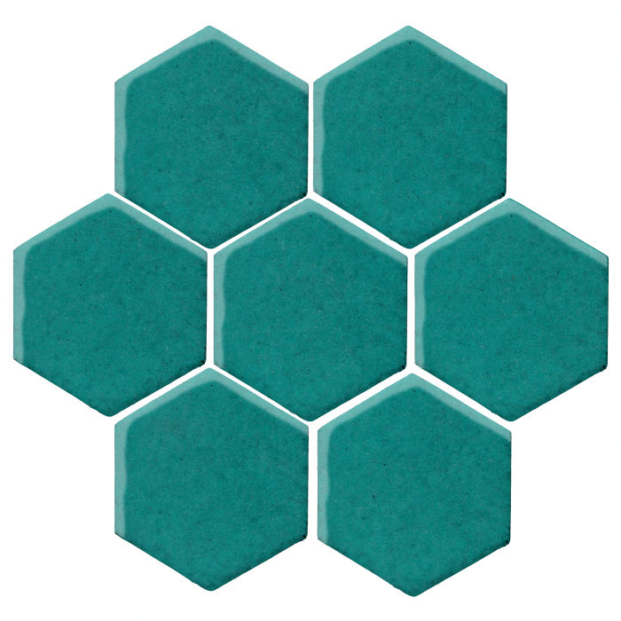 6x6 Monrovia Hexagon Real Teal 5483c