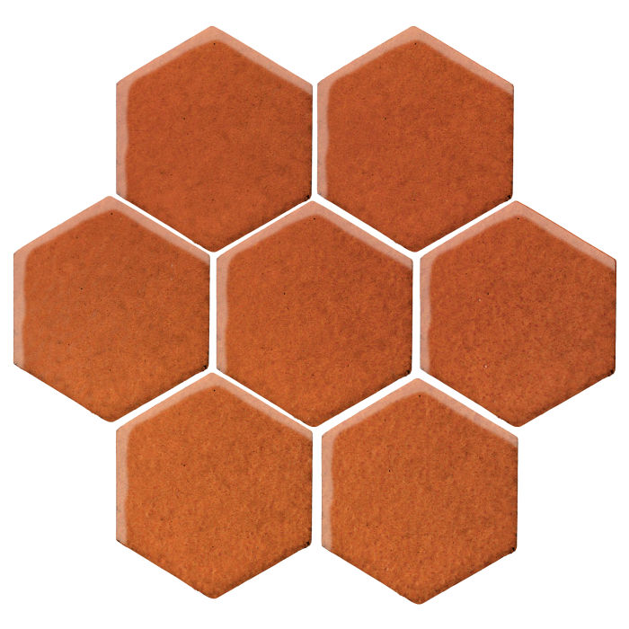 6x6 Monrovia Hexagon Spanish Brown