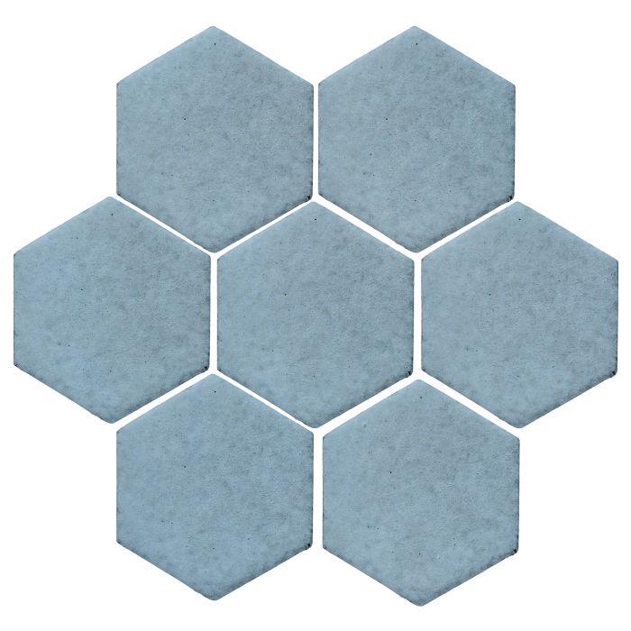 6x6 Monrovia Hexagon Turquoise