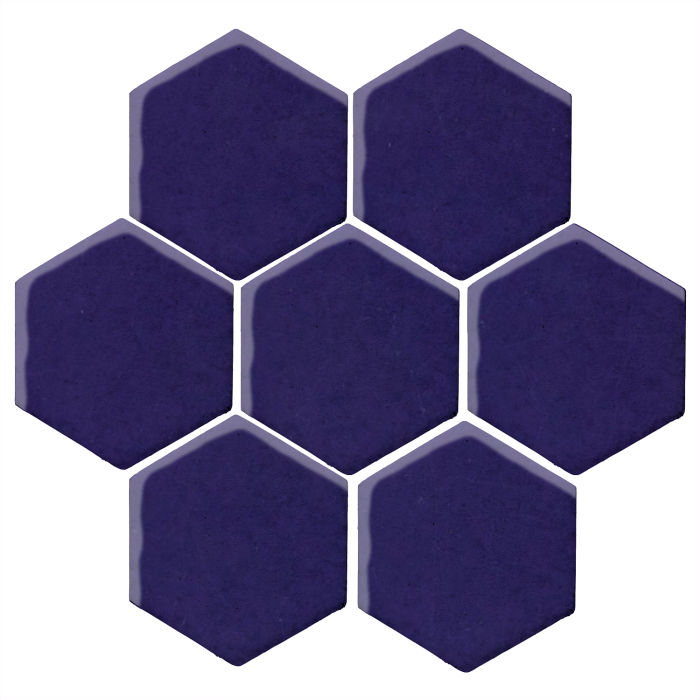 6x6 Monrovia Hexagon Ultramarine 2758c