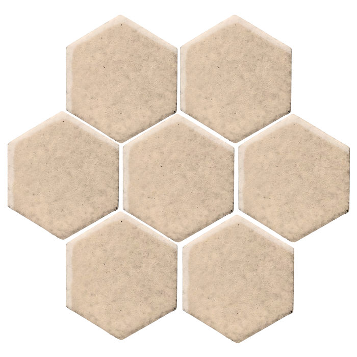 6x6 Monrovia Hexagon White Bread 7506c