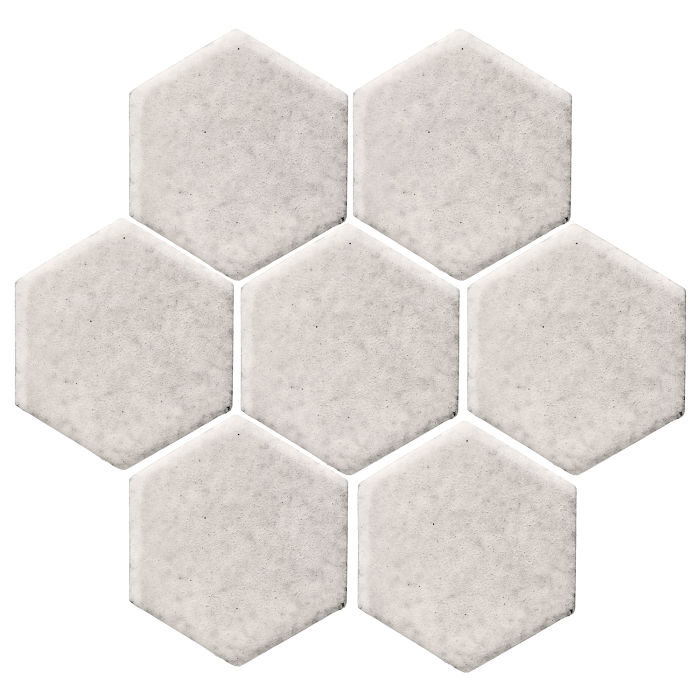 6x6 Monrovia Hexagon Pure White