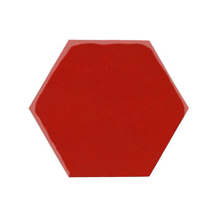8x8 Monrovia Hexagon Brick Red 7624c