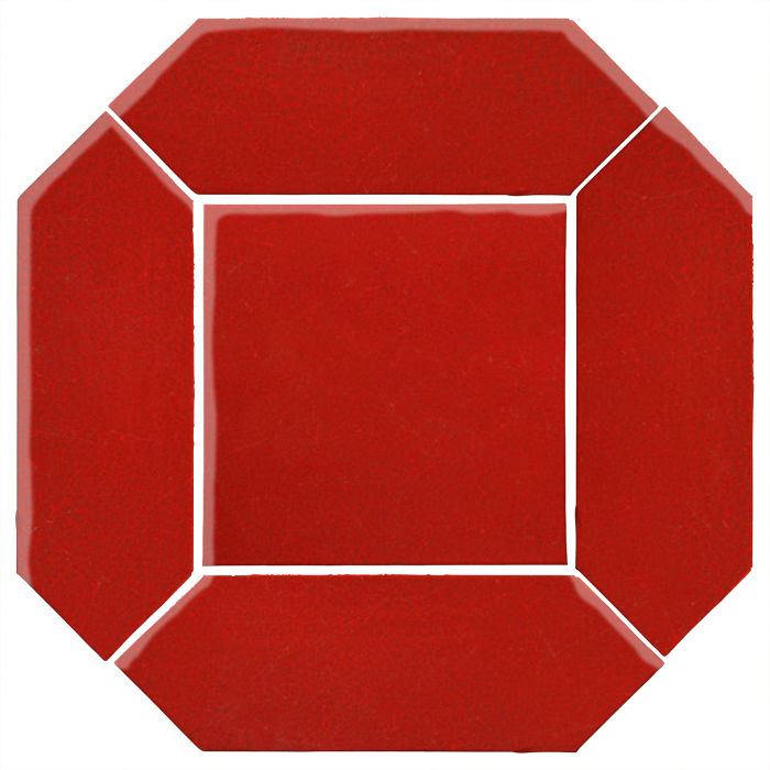 4x12 Monrovia Picket Set (2 Pcs 4x12 Monrovia Picket and 1 Pc 8x8 Monrovia) Brick Red 7624c