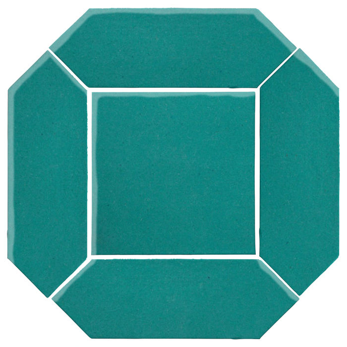 4x12 Monrovia Picket Set (2 Pcs 4x12 Monrovia Picket and 1 Pc 8x8 Monrovia) Real Teal 5483c