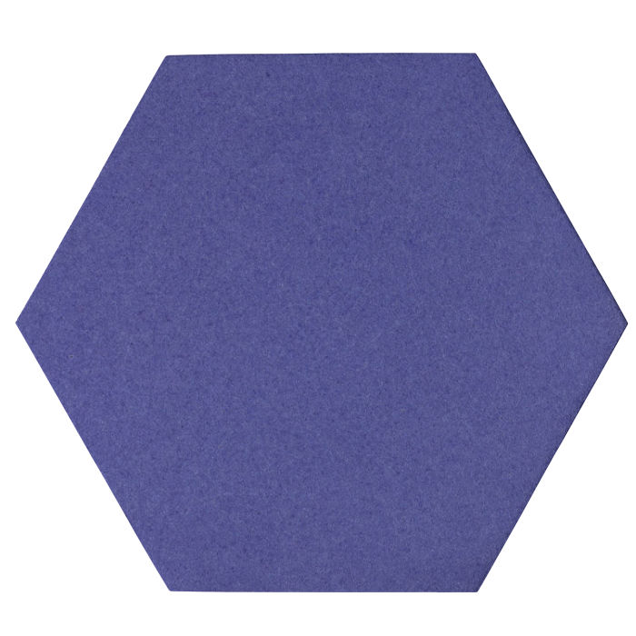 12x12 Oleson Hexagon Blue Satin 7684u