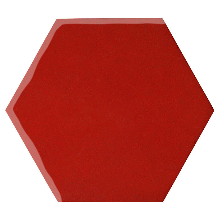 12x12 Oleson Hexagon Brick Red 7624c