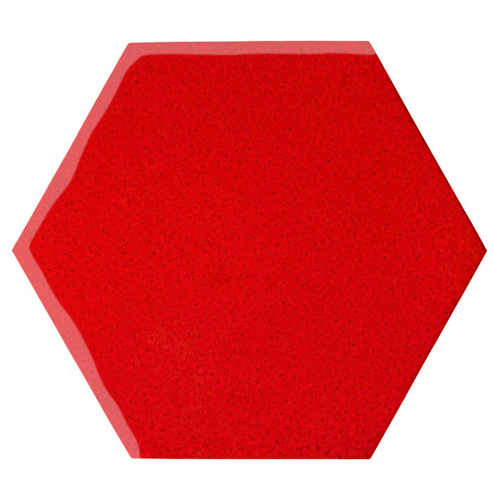 12x12 Oleson Hexagon Cadmium Orange 7620c
