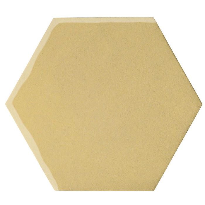 12x12 Oleson Hexagon Egg Cream 0131c