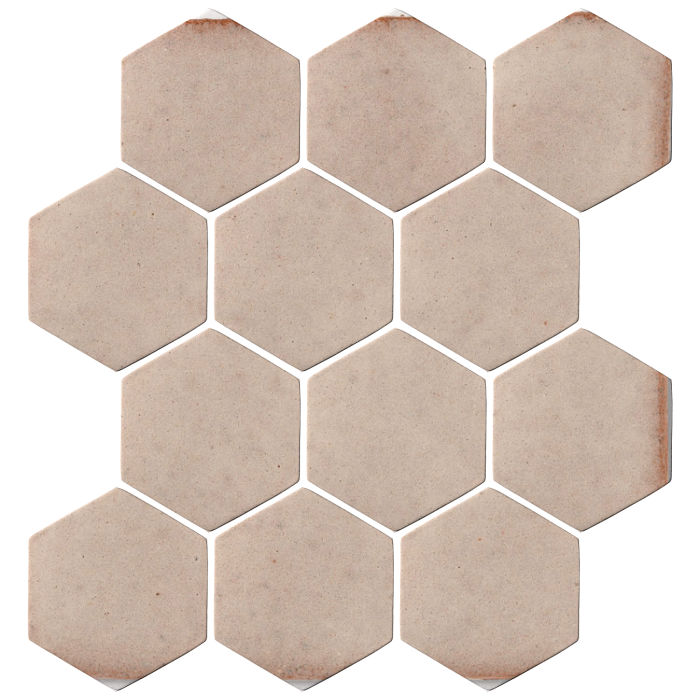 4x4 Oleson Hexagon Alabaster CG1u