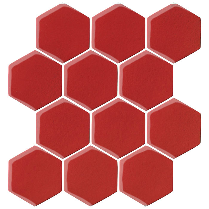 4x4 Oleson Hexagon Apple Valley Red