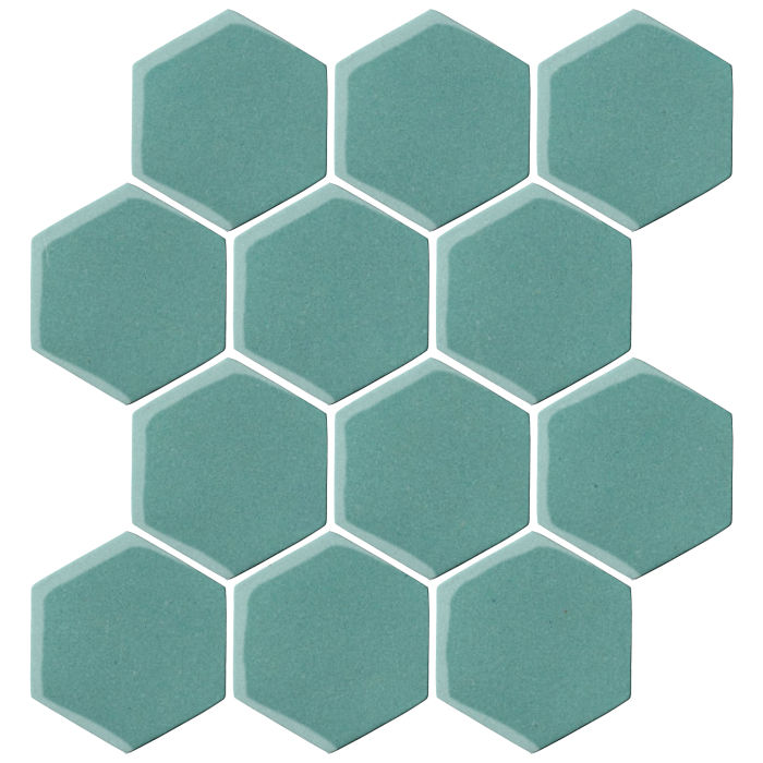 4x4 Oleson Hexagon Blue Haze 7458c