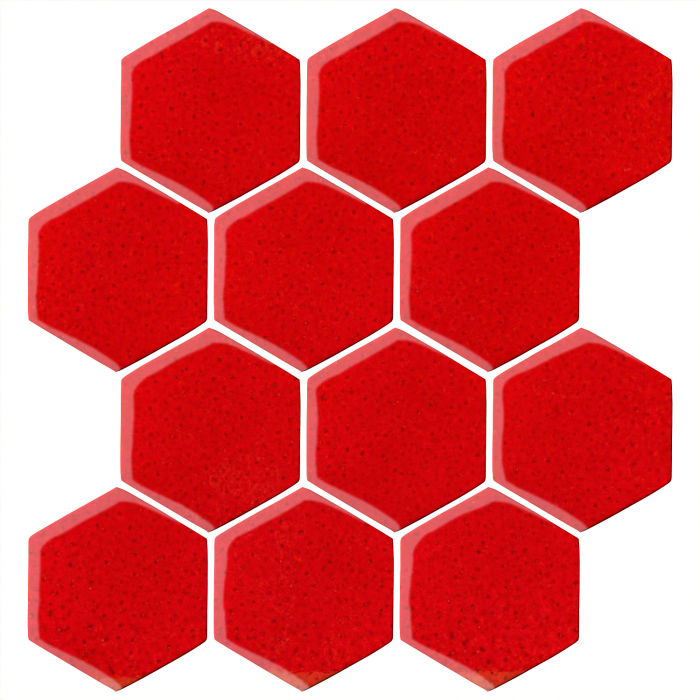 4x4 Oleson Hexagon Cadmium Orange 7620c