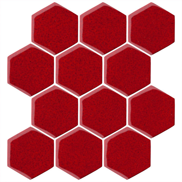 4x4 Oleson Hexagon Cadmium Red 202c