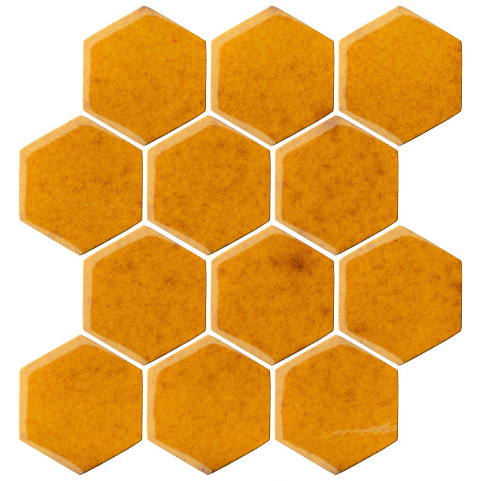 4x4 Oleson Hexagon Cadmium Yellow
