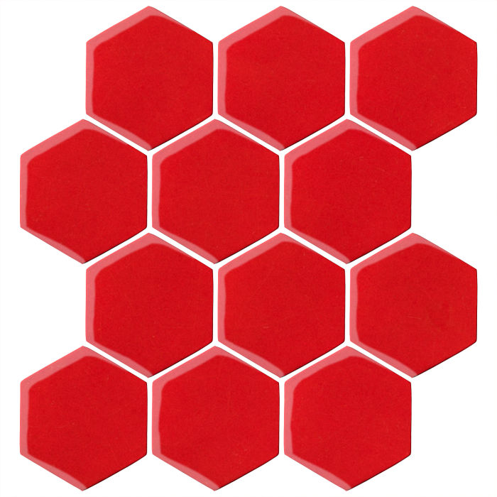 4x4 Oleson Hexagon Cherry Tomato 7621c