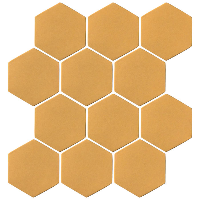 4x4 Oleson Hexagon Custard 7403u
