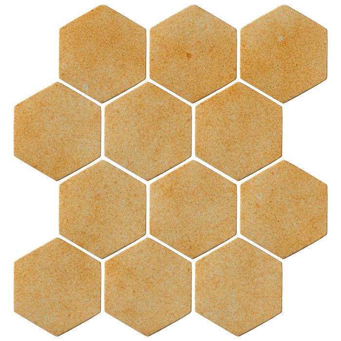 4x4 Oleson Hexagon Deli Mustard 7551u