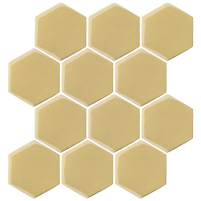 4x4 Oleson Hexagon Egg Cream 0131c