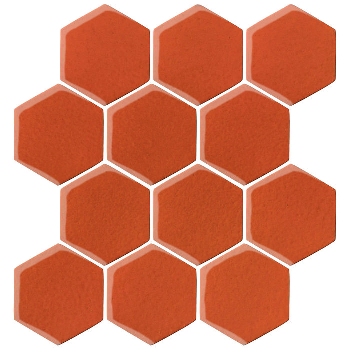 4x4 Oleson Hexagon Hazard Orange