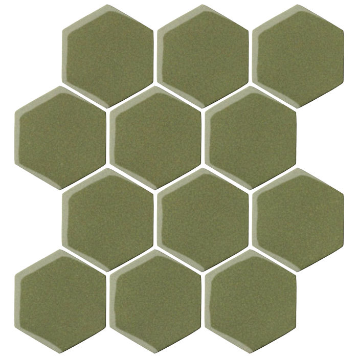 4x4 Oleson Hexagon Kelp 5615c
