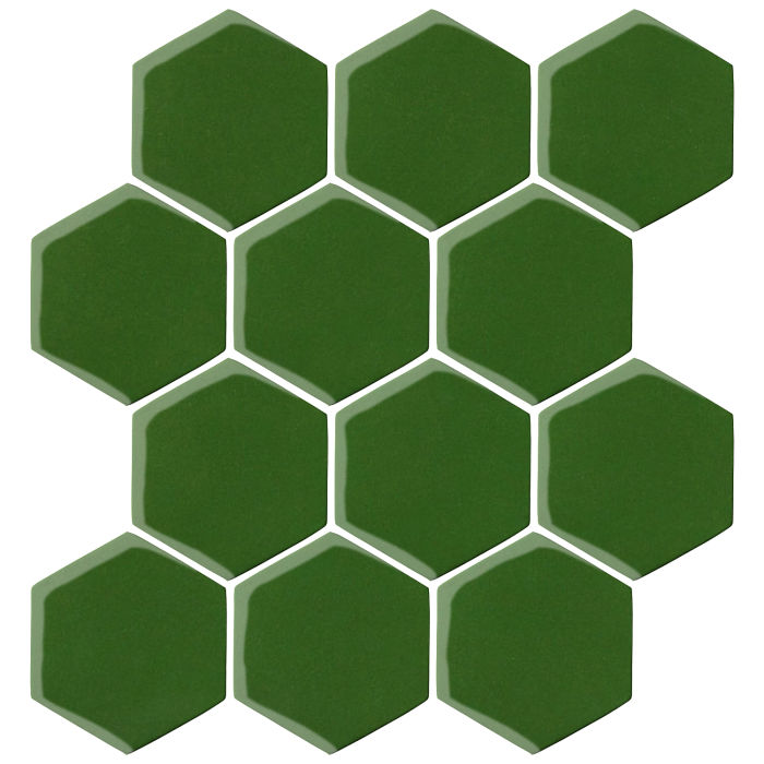 4x4 Oleson Hexagon Lucky Green 7734c