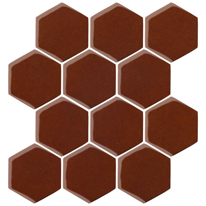 4x4 Oleson Hexagon Mocha 7581c