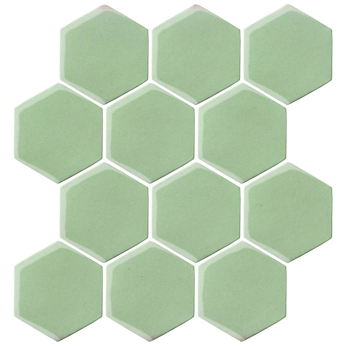 4x4 Oleson Hexagon Peppermint