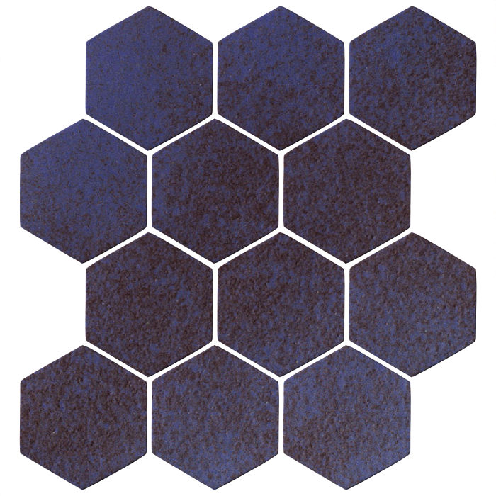 4x4 Oleson Hexagon Persian Blue
