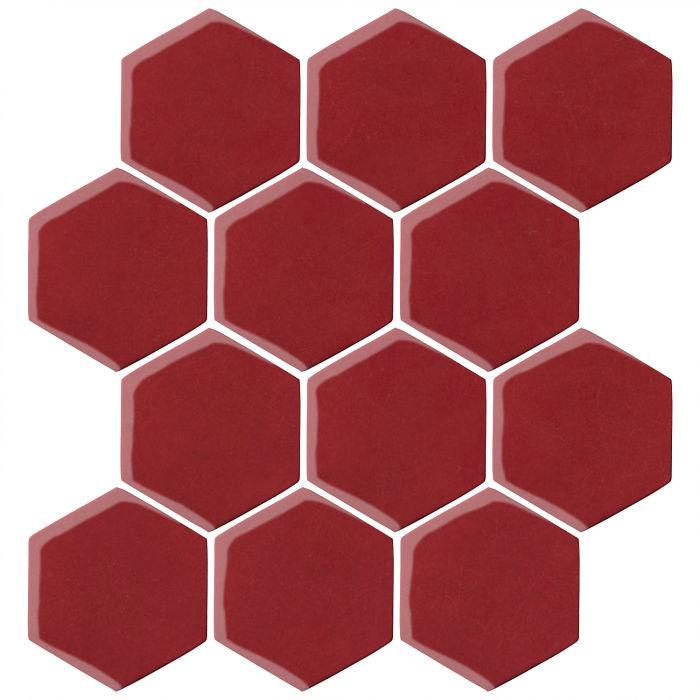 4x4 Oleson Hexagon Pinot Noir 7642c